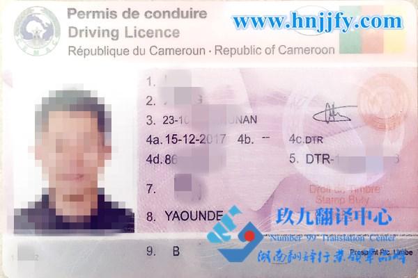 喀麦隆驾照翻译&车管所认可翻译机构