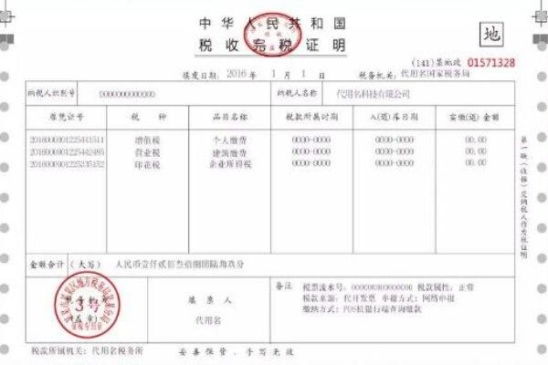 完税证明翻译价格